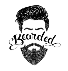 Logo bearded black vector image vector image