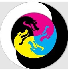 Yin and Yang - Dragon vector image vector image