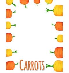 Border design with fresh carrots vector