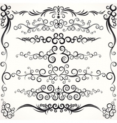 ornamental borders vector image