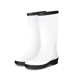 White blank safety rubber boots vector image