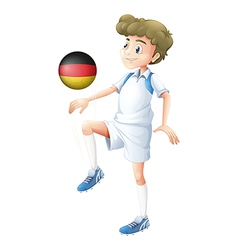 A football player from Germany vector image