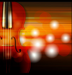 abstract grunge music background with violin vector image