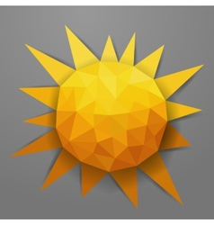 abstract triangle summer sun vector image