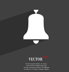 Alarm bell symbol Flat modern web design with long vector image