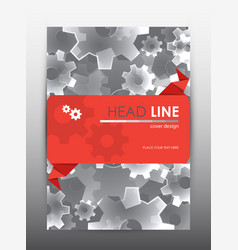 brochure design template cover presentation vector image