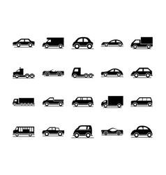 car model sedan suv pickup truck transport vehicle vector image