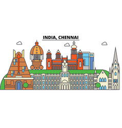 Chennai india hinduism city skyline vector