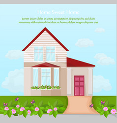Classic house architecture facade vector
