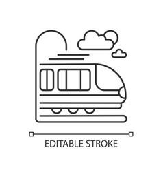 coach car linear icon vector image
