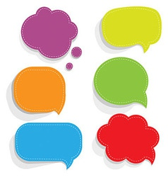 Color Paper Speech Bubbles vector image