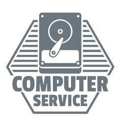 Computer service logo simple style vector