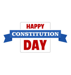 constitution day logo icon flat style vector image