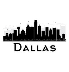 Dallas City skyline black and white silhouette vector
