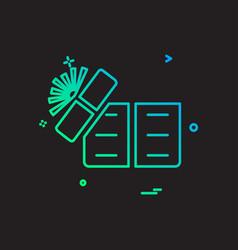 desktop icon design vector image