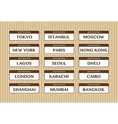 Destination stickers vector