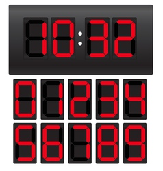 Digital clock template vector