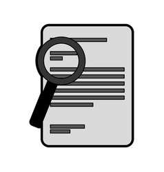 Document with magnifying glass isolated icon vector