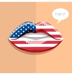 English american language concept vector