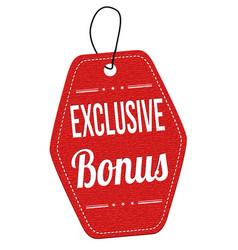 Exclusive bonus label or price tag vector