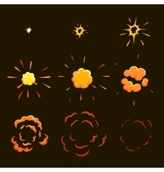 Explode effect animation game design animation vector
