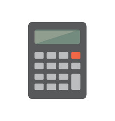 Flat calculator or icon vector