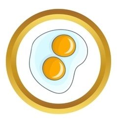 Fried eggs icon vector
