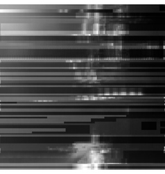 Glitched abstract background made of black vector