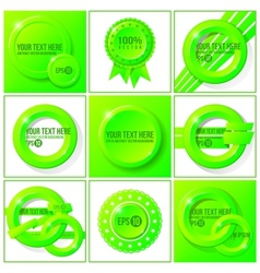 Green abstract set of backgrounds for your design vector image