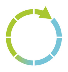 green and blue cycle icon vector image