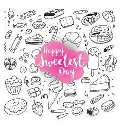 Happy sweetest day vector image