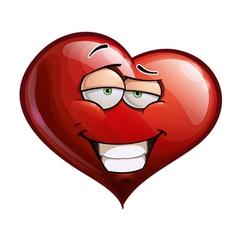Heart Faces Smug vector image