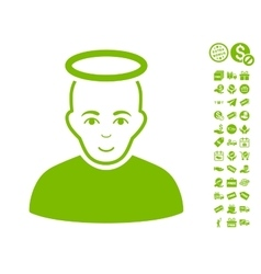 Holy Man Icon With Free Bonus vector image