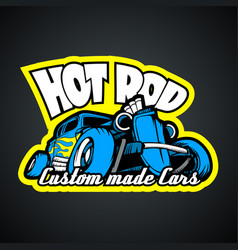hot rod custom made cars t-shirt print template vector image