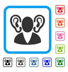 Listener framed icon vector
