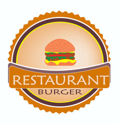 logo restaurant food orange color vector image