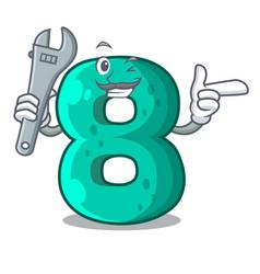 Mechanic number eight volume logo the mascot vector