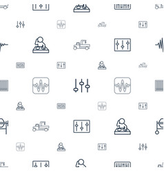 Mixer icons pattern seamless white background vector