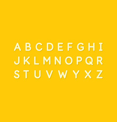 modern alphabet font capital letters latin vector image