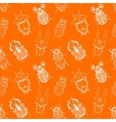 Nice beetles pattern vector