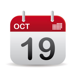 oct calendar stand up vector image