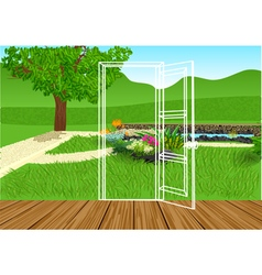 opening door vector image