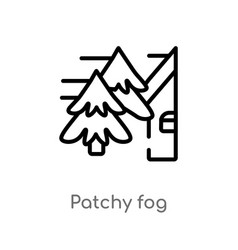 Outline patchy fog icon isolated black simple vector