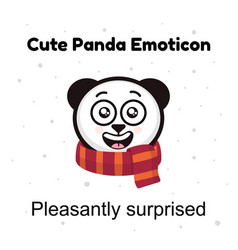 panda emoticon isolated on white vector image