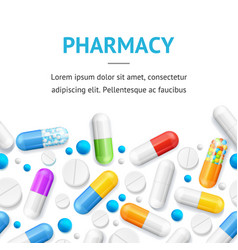 pharmacy therapy flyer banner posters card vector image