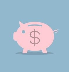 Piggy bank with dollar sign vector