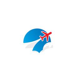 plane cloud aero logo vector image