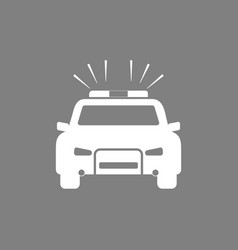 police car icon flat design vector image