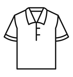 polo tshirt icon outline style vector image