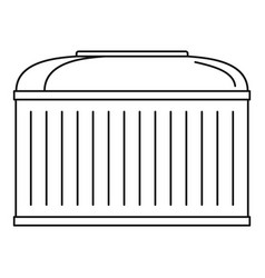 Production barrel icon outline style vector